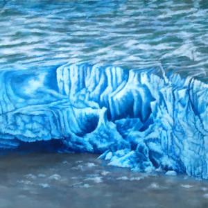 Calving Glacier by Merrilyn Duzy
