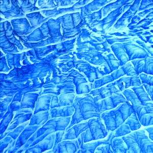 Glacier Abstracted by Merrilyn Duzy