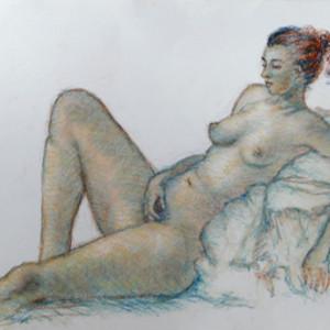 Lila in Repose by Merrilyn Duzy
