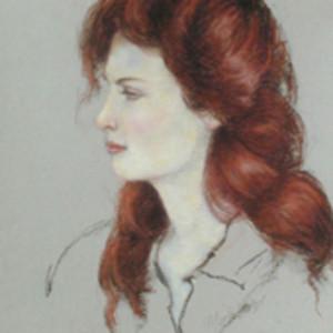Red Head I (Lynn Stadum) by Merrilyn Duzy