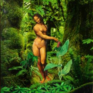 Mona in the Garden by Merrilyn Duzy