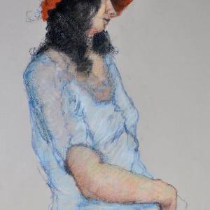 Nicole in Blue Blouse by Merrilyn Duzy