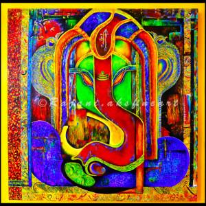"""Ornamental"" Ganesha by Rajani Ambade"