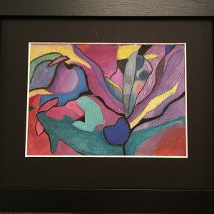 Colored Pencil Abstract #1 by Kathie Collinson
