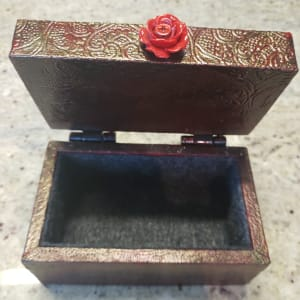 Small textured resin rose box by Heather Medrano