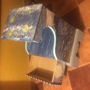 starry nights themed side table by Heather Medrano