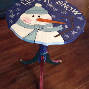 Christmas  store snowman table by Heather Medrano