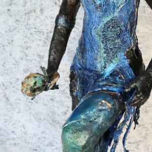 Warishe, Manicato by Lucy Giboyeaux   Image: Patch of Iridescent Blue-Green Resin on her knee