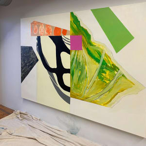 Abstract Interior (green) by Pamela Staker