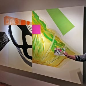 Abstract Interior (green) by Pamela Staker  Image: view with tiny source collage