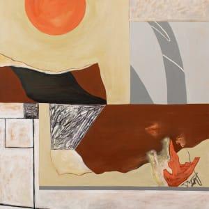 Abstract Interior (orange sun) by Pamela Staker