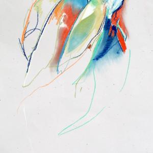 Three parrots pastel on speckletone paper 25 x38  2019 bgrxaf