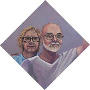 Portrait of Kurt and Chris Covid by Steve Miller