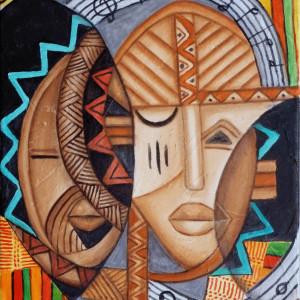 Maruvian Small World Masks 2 by Marcella Hayes Muhammad