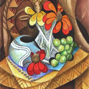 Summer Zinnias by Marcella Hayes Muhammad