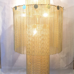 Glam chandelier by Beth Kamhi