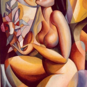 """Yellow Nude"" by Antonio Diego Voci ""STOLEN PAINTING"""
