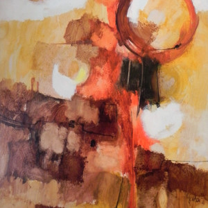 """""""Abstract"""" Orange and Rust by Aldo Paolucci by Aldo Paolucci"""