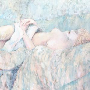 """Bedspread Nude"" by Jane Fletcher by Jane Fletcher"
