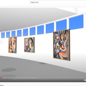 """Painter and Model"" by Antonio Diego Voci #C101 by Antonio Diego Voci  Image: VIRTUAL MUSEUM TOUR by Stephen Max 2013"