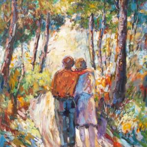"""""""Der Spaziergang"""" (The Walk)  by Antonio Diego Voci #C21 by Antonio Diego Voci"""