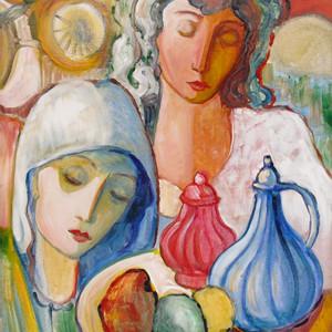 """""""Still Life with Women"""" by Antonio Diego Voci #C28 by Antonio Diego Voci"""