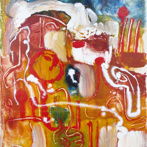 """""""Abstract Composition"""" Glass Paint by Antonio Diego Voci #C29 by Antonio Diego Voci"""