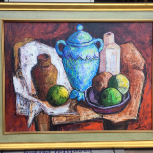 """Le Pot Bleu"" by Antonio Diego Voci #C33 by Antonio Diego Voci"