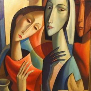 """""""Donna con Natura Morta"""" (Fortune Cookie) #C44 by Antonio Diego Voci by Antonio Diego Voci"""
