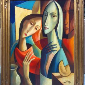 """""""Donna con Natura Morta"""" (fortune cookie) by Antonio Diego Voci  #C44 by Antonio Diego Voci"""
