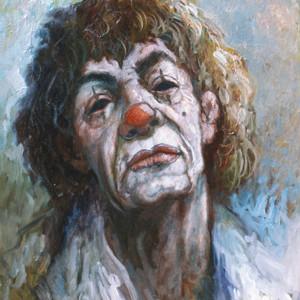 """""""Clown"""" by Antonio Diego Voci #C49"""" """"STOLEN PAINTING"""""""