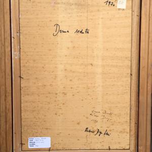 """Donna Seduta"" #C54 in ornate Gold-Leaf Frame by Antonio Diego Voci"