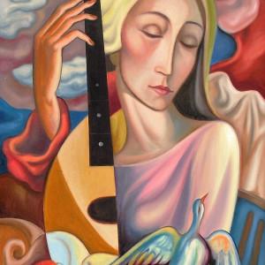 """Dreaming Woman"" by Antonio Diego Voci #C1"