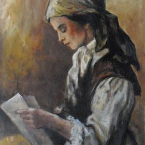 """Girl Reading"" C57 by Antonio Diego Voci"