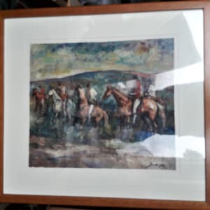 """""""Horses and Riders on a Hunt"""" #C59 by Antonio Diego Voci by Antonio Diego Voci  Image: Framed under Glass"""