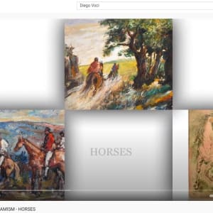 """""""Horses and Riders on a Hunt"""" #C59 by Antonio Diego Voci by Antonio Diego Voci  Image: HORSES VIDEO by Stephen Max 2021"""