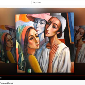 """Masques de la Comedie italienne"" #C68 by Antonio Diego Voci by Antonio Diego Voci"