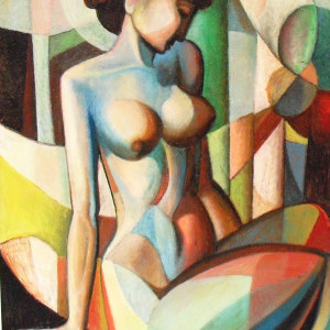 """Nude"" Cubism by Antonio Diego Voci #C71 by Antonio Diego Voci"