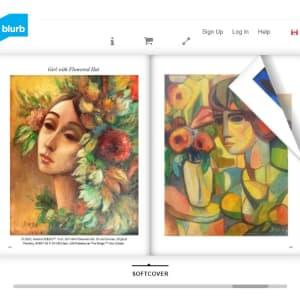 """Face with Flowers"" by Antonio Diego Voci #C72 by Antonio Diego Voci"