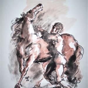 """Man with Horse"" CD20 by Antonio Diego Voci"