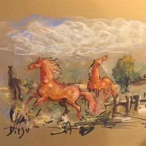 """Horses in Pastel"" CD40 by Antonio Diego Voci"
