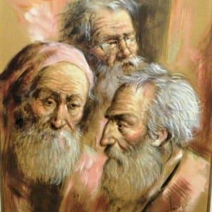 """""""Die 3 Philosophen"""" Framed by Antonio Diego Voci by Antonio Diego Voci"""
