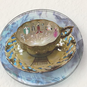 """""""Chinese Cup with Fashion Models"""" by Doris Bittar by Doris Bittar"""