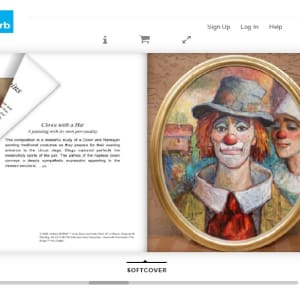 """""""Clown with Hat"""" #C91 (Oval Frame)by Antonio Diego Voci by Antonio Diego Voci  Image: THE BEAUTY OF DEIGO"""