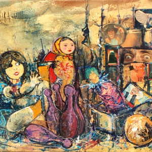 """Marty Feldman im Kinderzimmer"" by Erika Grandt by Erika Grandt"