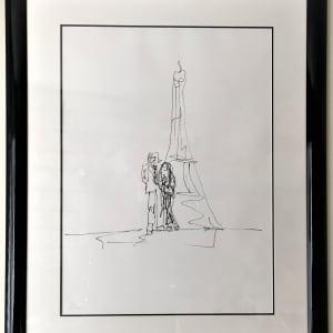 """John and Yoko in Paris"" Signed #Yoko Ono Lennon Serigraph 167 of 300 by John Lennon"