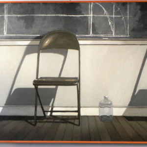 """""""Studio with 2 Chairs and a Jar"""" by Norman Lundin by Norman Lundin"""