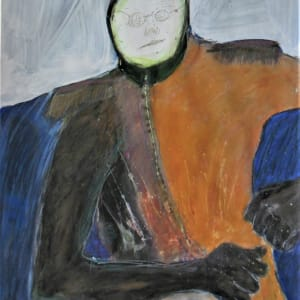 """Hooded Orange Man on Head"" by Jim Bess by Jim Bess"