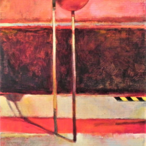 """""""Cautionary Pole"""" from #Playground Series by Kim Frohsin by Kim Frohsin"""