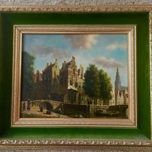 """Amsterdam Canal Scene"" by Herman Veger by Herman Veger"